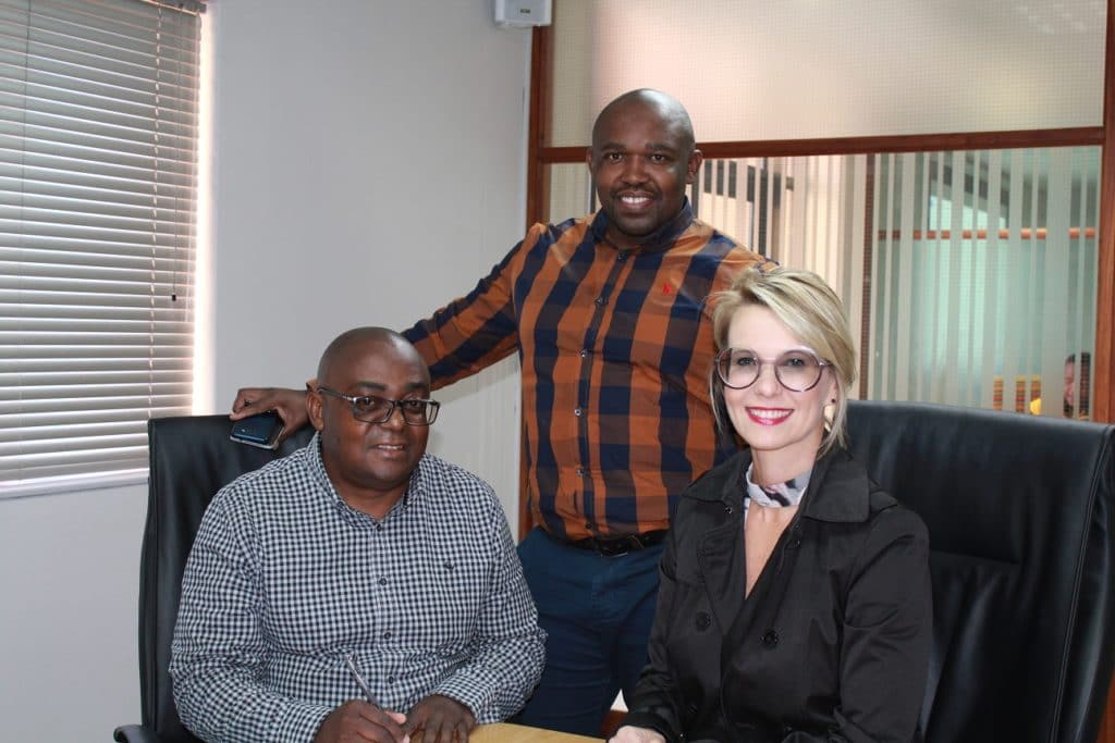 Eric Sigama, Monelisi Vuso and Christelle Colman
