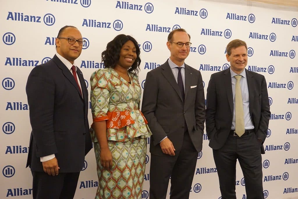 Andreas Berger, AGCS, Chief Regions & Markets Officer; Delphine Traoré Maïdou, Allianz Africa COO;  Oliver Bäte and Coenraad Vrolijk Allianz Africa CEO.